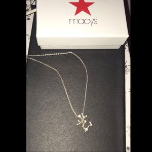 Jewelry - Diamond Chip Sagittarius sign necklace